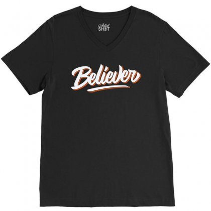 Believer V-neck Tee Designed By Blqs Apparel