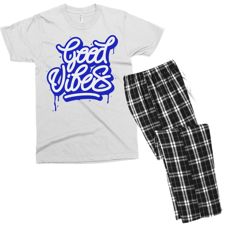 Good Vibes Men's T-shirt Pajama Set | Artistshot
