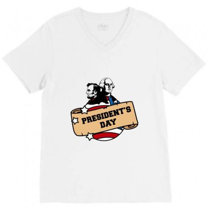 President's Day V-neck Tee Designed By Nurbetulk