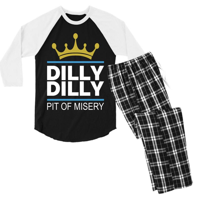 Dilly Dilly Pit Of Misery Men's 3/4 Sleeve Pajama Set   Artistshot