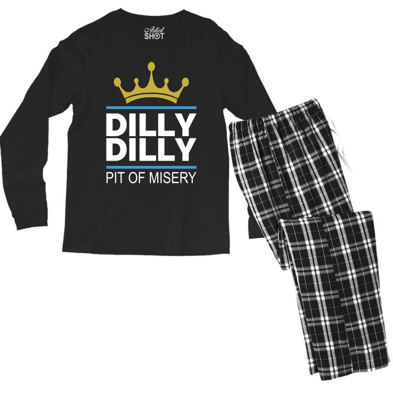 Dilly Dilly Pit Of Misery Men's Long Sleeve Pajama Set   Artistshot