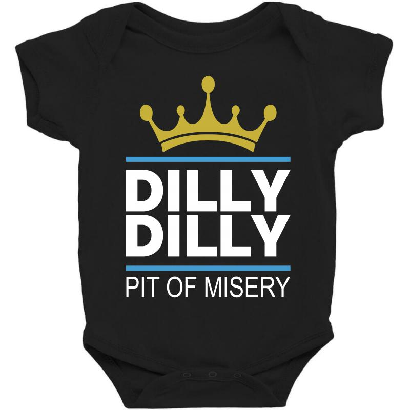2a66c053f13632 Custom Dilly Dilly Pit Of Misery Baby Bodysuit By Slalomalt - Artistshot