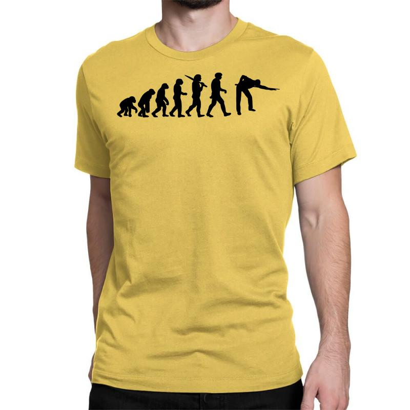 Evolution Of Snooker Or Pool Ape To Player Mens Black New T Shirt Top Classic T-shirt | Artistshot