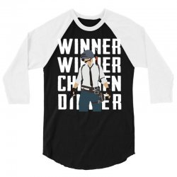 winner chicken dinner 3/4 Sleeve Shirt | Artistshot