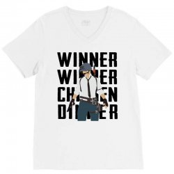 winner chicken dinner (black) V-Neck Tee | Artistshot