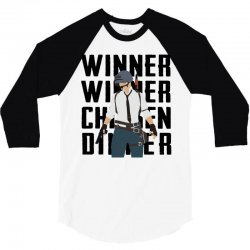 winner chicken dinner (black) 3/4 Sleeve Shirt | Artistshot