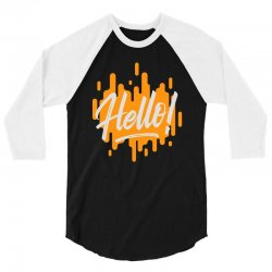 hello 3/4 Sleeve Shirt | Artistshot