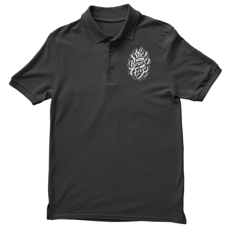 She Who Is Brave Is Free Men's Polo Shirt | Artistshot