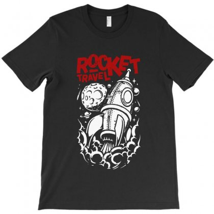 Rocket Travel T-shirt Designed By Blqs Apparel