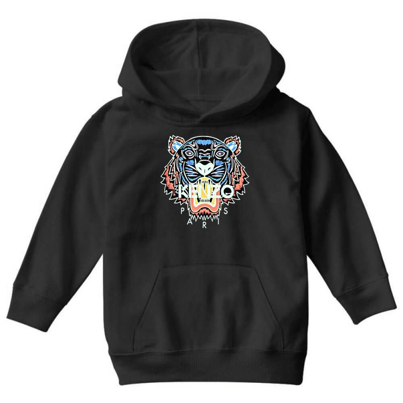 Custom Kenzo Paris Tiger Youth Hoodie By Blqs Apparel - Artistshot feeb1b6eed12