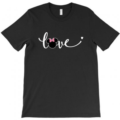 Love Minnie Mouse For Dark T-shirt Designed By Sengul