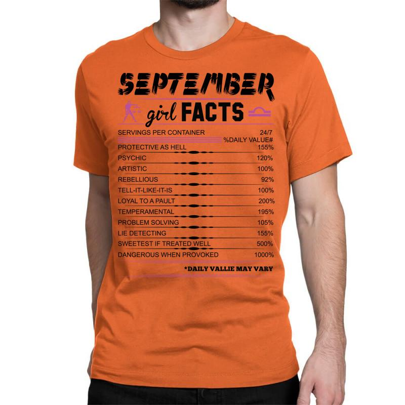 September Girl Facts Libra Classic T-shirt  By Artistshot