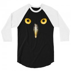 owl face 3/4 Sleeve Shirt | Artistshot