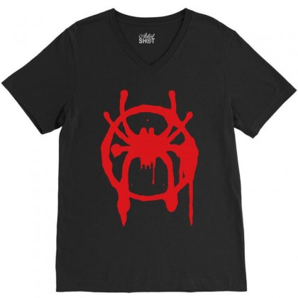 Into The Spider - Verse V-neck Tee Designed By Meza Design