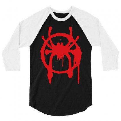 Into The Spider - Verse 3/4 Sleeve Shirt Designed By Meza Design
