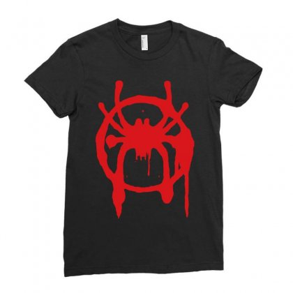 Into The Spider - Verse Ladies Fitted T-shirt Designed By Meza Design