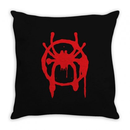 Into The Spider - Verse Throw Pillow Designed By Meza Design