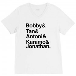 queer eye (names) black V-Neck Tee | Artistshot