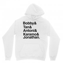 queer eye (names) black Unisex Hoodie | Artistshot