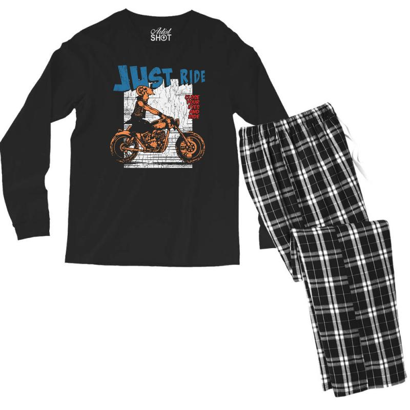 Close Your Eyes And Ride Men's Long Sleeve Pajama Set | Artistshot