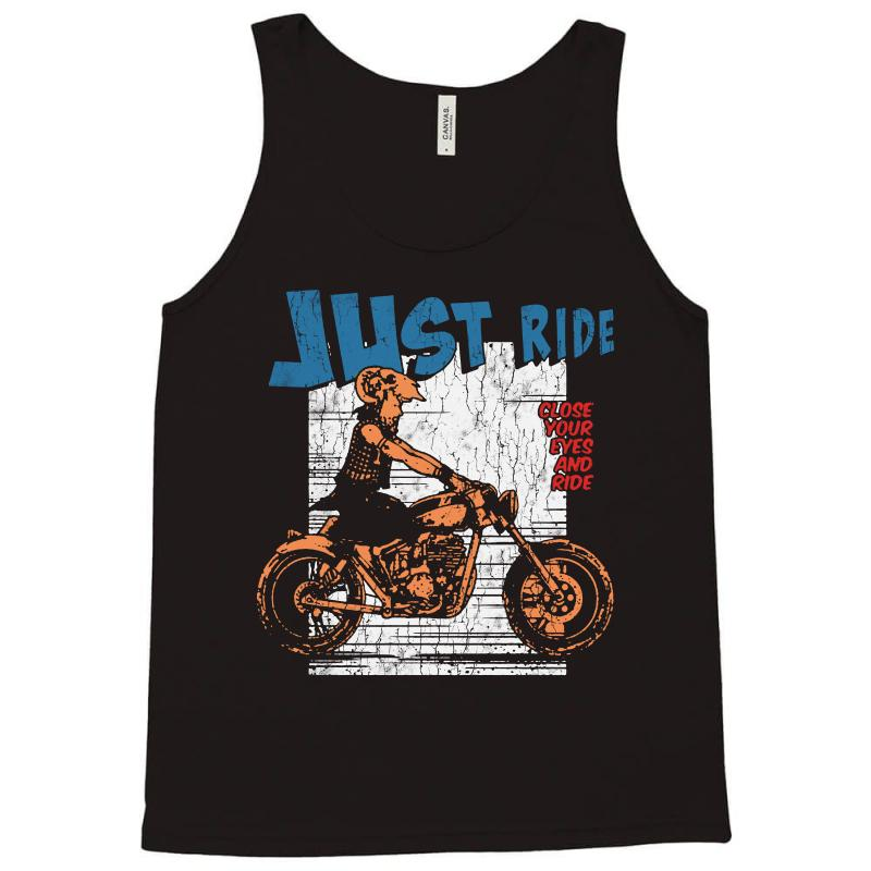 Close Your Eyes And Ride Tank Top | Artistshot