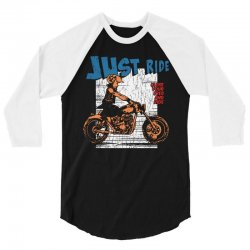 close your eyes and ride 3/4 Sleeve Shirt | Artistshot