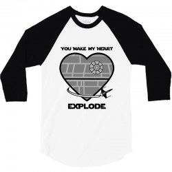 you make my heart explode for light 3/4 Sleeve Shirt | Artistshot