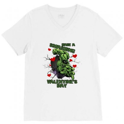 Have A Smashing Valentine's Day V-neck Tee Designed By Zeynepu