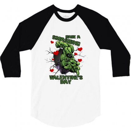 Have A Smashing Valentine's Day 3/4 Sleeve Shirt Designed By Hasret