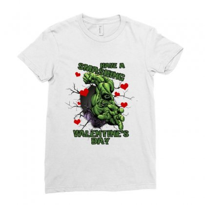 Have A Smashing Valentine's Day Ladies Fitted T-shirt Designed By Hasret