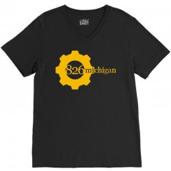 826 michigan V-Neck Tee | Artistshot