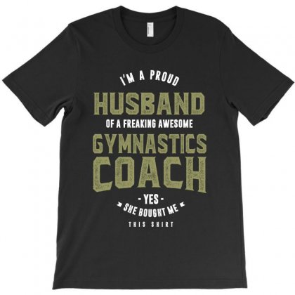 Proud Husband Of A Gymnastics Coach T-shirt Designed By Cidolopez