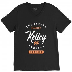 The Legend Is Alive Kelley V-Neck Tee | Artistshot