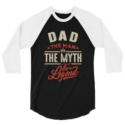 Dad 3/4 Sleeve Shirt Designed By Chris Ceconello
