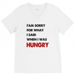 i'am sorry for what i said when i was hungry guys V-Neck Tee | Artistshot