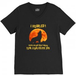 moon lunar eclipse 2019 V-Neck Tee | Artistshot