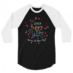2019 happy new year eve's party celebration 3/4 Sleeve Shirt | Artistshot