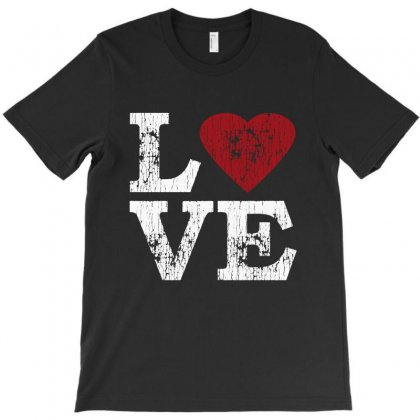 Love With Heart T-shirt Designed By Blqs Apparel