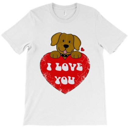 Valentine's Day Dog T-shirt Designed By Blqs Apparel
