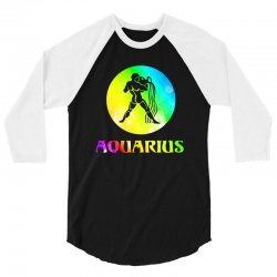 aquarius astrological sign 3/4 Sleeve Shirt | Artistshot