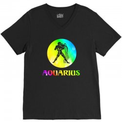 aquarius astrological sign V-Neck Tee | Artistshot