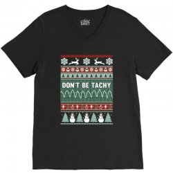 don't be tachy ugly christmas V-Neck Tee   Artistshot