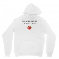 independence is happiness susan b. anthony for light Unisex Hoodie   Artistshot