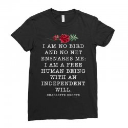 charlotte bronte for dark Ladies Fitted T-Shirt | Artistshot