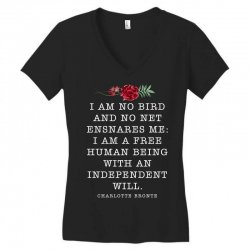 charlotte bronte for dark Women's V-Neck T-Shirt | Artistshot