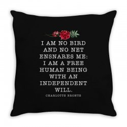charlotte bronte for dark Throw Pillow | Artistshot
