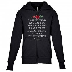 charlotte bronte for dark Youth Zipper Hoodie | Artistshot