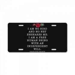 charlotte bronte for dark License Plate | Artistshot