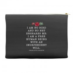 charlotte bronte for dark Accessory Pouches | Artistshot
