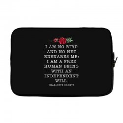 charlotte bronte for dark Laptop sleeve | Artistshot